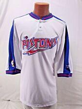 Vintage Reebok Detroit Pistons Hardwood Classics Shooting Shirt Jersey Sewn 2XL