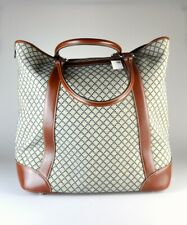 $1995 NWT Gucci Diamante Beige Brown XL Men's Travel Canvas Tote Bag Top Handle