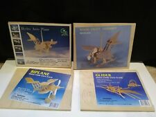 Lot of 4 Wood Wooden Puzzles Toys Plane