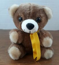 "5"" Similac Brown Plush Rosco Teddy Bear Yellow Ribbon Stuffed EUC"
