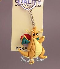 Pokemon Dragonite Rubber Keychain 2 Inches US Seller