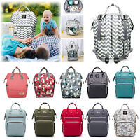 NEW LEQUEEN Waterproof Mummy Nappy Diaper Bag Large Baby Nursing Travel Backpack