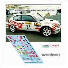DECALS 1/43 TOYOTA COROLLA WRC AURIOL RALLY MONTECARLO 2002