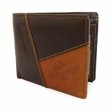 Mens Luxurious 100% Genuine Bifold Leather Wallet With Zip Cash Coin Pocket