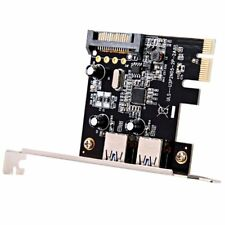 USB 3.0 expansion card External 2 port PCI-E PCI Express 15-pin SATA power Y6E6