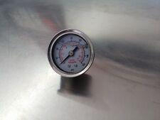 Fuel Pressure Regulator Gauge 0-160 PSI Liquid Filled  Chrome/White Face