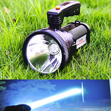Super Bright Torch Searchlight Handheld Portable LED Spotlight USB Rechargeable
