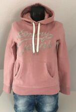 Tommy Hilfiger Logo Hoodie Damen Pulli Kapuzenpullover Rosa Gold Größe S