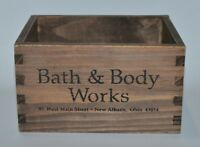 BATH BODY WORKS WOOD CRATE TRAY GIFT SET BOX BASKET DECOR LARGE CANDLE HOLDER