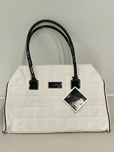 Givenchy Parfums Shoulder Duffle Bag- Quilted White