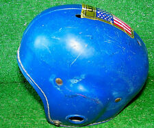 Vintage Antique Rawlings Football Helmet Leather Bobby Layne 60-5589 50s Blue
