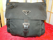 PRADA VELA Sport Black Nylon Crossbody Messenger Shoulder Bag PO