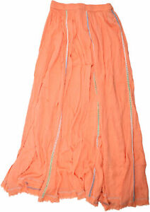 Z & L Womens Havana Maxi Skirt Coral S New