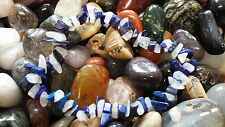 Lapis lazuli & rainbow moonstone chip bead healing crystal bracelet