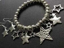 Stackable STARS Stretch Beaded Bracelet And FREE Star Earrings Boho Bijoux