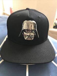 STAR WARS Snapback Adjustable Hat Cap New Heavy Darth Vader Metal Helmet