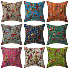 Indian Kantha Cushion Cover Home Decrative Throw Pillow Case Cover 16""