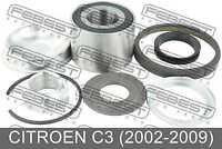 Rear Wheel Bearing Repair Kit 25X52X37 For Citroen C3 (2002-2009)