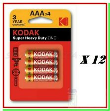 48 Batterie Pile KODAK AAA Ministilo Super Zinc R03 Micro Exp. 2022
