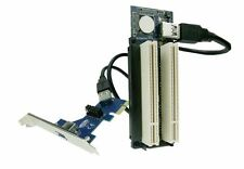 PCI Express to Dual PCI Adapter Card PCIe x1 to Router Tow 2 PCI slot Riser Card