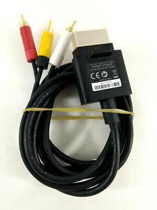 Microsoft Xbox 360  Cable Officiel Audio Video AV  Envoi rapide et suivi