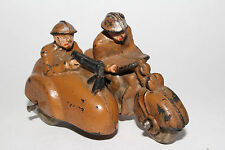 1930's Auburn Rubber Military Motorcycle with Sidecar, Kahki Color, Original