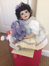 "Marie Osmond Baby Annette Funicello 15"" Doll & Purple Bear; #2404/5000"