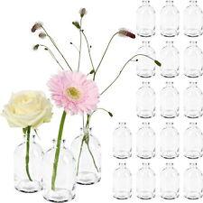 20x Mini Vase Väschen Glas Flasche Deko Dekoration Hochzeit Blumenvase klein