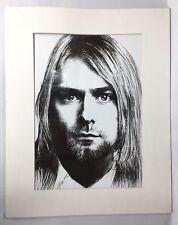 Kurt Cobain Sketch Print Art Picture Nirvana Grunge Rock Band Seattle 90's 16x11