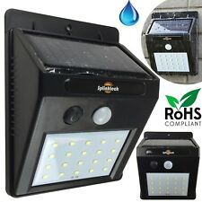 20 LED Solar Sensor Light Flood Security Powered Garden Motion Outdoor Lamp Uk