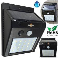 20 LED Luz Solar Sensor Movimiento Jardín Alimentación de seguridad de inundación lámpara al aire libre Reino Unido