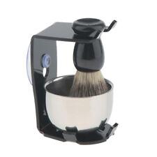 Salon Barber Shaver Holder and Hair Removal Shaving Brush & Soap Mug Bowl