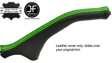 BLACK & GREEN STRIPE LEATHER HANDBRAKE BOOT FOR MITSUBISHI MAGNA DIAMANTE 99-03