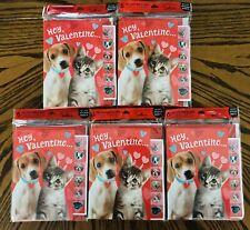 Lot Hallmark Valentine's Day Cards & Sticker Sheets with Envelopes 30 Cards