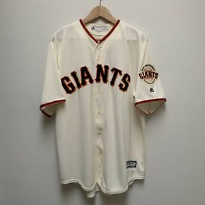 Majestic Cool Base San Francisco Giants SF MLB Home Cream Jersey Men's Large NWT