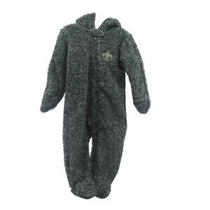 New Orleans Saints NFL Baby Toddler Infant Size Pajama Fuzzy Sleeper Bodysuit