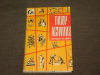 VINTAGE  BSA BOY SCOUTS OF AMERICA 1962 TROOP ACTIVITIES BOOK