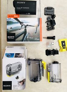 Sony HDR-AS30V GPS Action Camera with New Waterproof case, Mounts Bundle