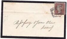 * 1850 MOURNING HAWICK =74= NUMERAL COVER UDC DENHOLM LOCAL NAMESTAMP OF ORIGIN