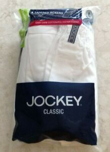 Men's Jockey Classic 4 Pack Tapered Boxers Size Large 36-38 NEW! SEALED!