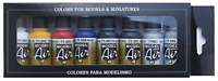 Vallejo Model Air Basic Colors Acrylic Paint Set for Air Brush - Assorted Pack 8