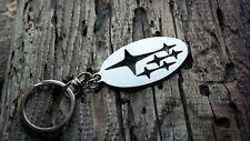 Subaru logo keychain keyring stainless steel fob JDM Metal schlüsselanhänger
