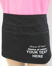 More details for new personalised custom printed or plain two zip pockets waist apron work wear
