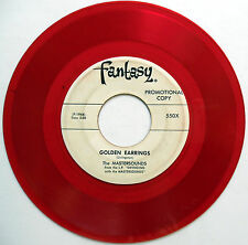 MASTERSOUNDS 45 Golden Earrings / Could Write PROMO Jazz RED VINYL Fantasy w3603