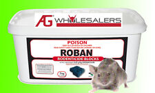 MUCH SAFER FOR CAT DOG- 1KG MOUSE BAIT ROBAN WAX BLOCKS - RODENT MICE RAT POISON