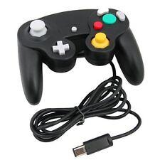 Noir wired controller pour Nintendo GameCube GC Wii et console classique joypad