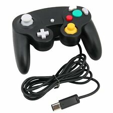 Noir Wired Controller pour Nintendo GameCube GC et Console Wii Classic Joypad