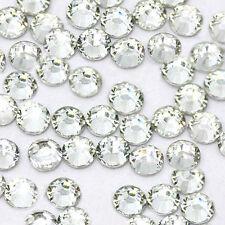 1440 Hotfix Heat Iron-On Rhinestones Beads Seed SS6 Clear Crystal 2mm