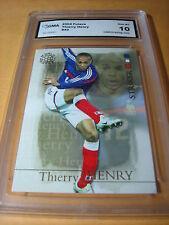THIERRY HENRY FRANCE 2004 FUTERA STRIKER # 43 GRADED 10 L@@@K