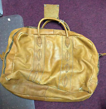 Columbian Made Large Authentic Soft Leather Duffel Bag!